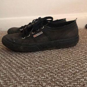 Superga Shoes   All Black Supergas